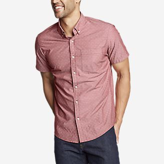 Men's Baja Short-Sleeve Shirt - Print in Red