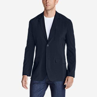 Men's Departure Tropical-Weight Packable Blazer in Blue
