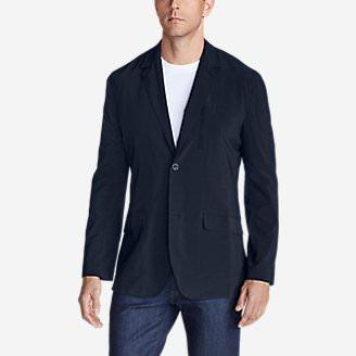 Men's Departure Tropical-Weight Packable Blazer in Blue