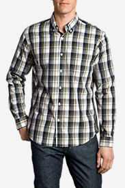 Men's Legend Wash Long-Sleeve Poplin Shirt - Pattern in Blue