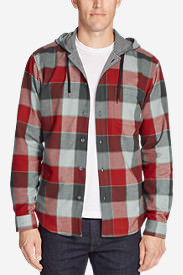 Men's Eddie's Favorite Flannel Hoodie in Red