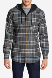 Men's Eddie's Favorite Flannel Hoodie in Gray
