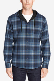 Men's Eddie's Favorite Flannel Hoodie in Blue