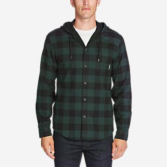 Men's Eddie's Favorite Flannel Hoodie in Green