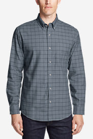 Men's Classic Signature Twill Long-Sleeve Shirt - Pattern in Blue