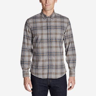 Men's Classic Signature Twill Long-Sleeve Shirt - Pattern in Beige