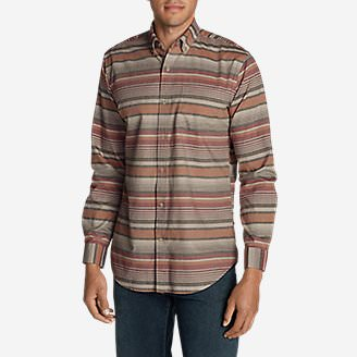 Men's Classic Signature Twill Long-Sleeve Shirt - Pattern in Purple
