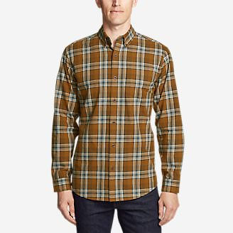 Men's Classic Signature Twill Long-Sleeve Shirt - Pattern in Brown