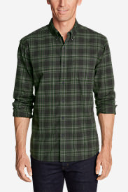 Men's Classic Signature Twill Long-Sleeve Shirt - Pattern in Green