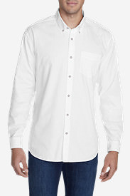 Men's Signature Twill Classic Fit Long-Sleeve Shirt - Solid in White