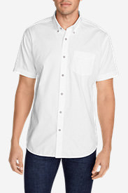 Men's Signature Twill Classic Fit Short-Sleeve Shirt - Solid in White