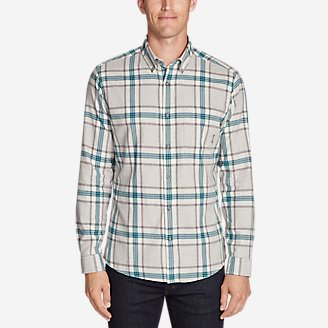 Men's Wild River Lightweight Flannel Shirt in Gray
