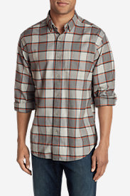 Men's Eddie's Favorite Flannel Classic Fit Shirt - Plaid in Orange