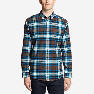 Men's Eddie's Favorite Flannel Classic Fit Shirt - Plaid Tall in Brown