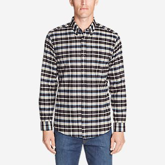 Men's Eddie's Favorite Flannel Classic Fit Shirt - Plaid in Gray