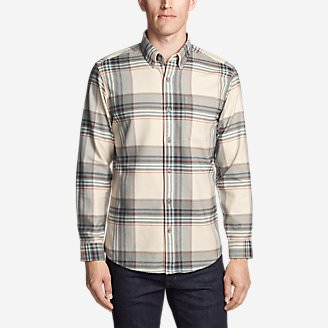 Men's Eddie's Favorite Flannel Classic Fit Shirt - Plaid in Beige