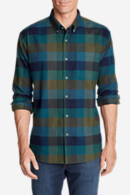 Men's Eddie's Favorite Flannel Classic Fit Shirt - Plaid Tall in Green
