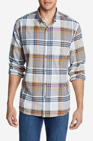 Men's Eddie's Favorite Flannel Classic Fit Shirt - Plaid Tall in Gray