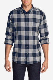 Men's Eddie's Favorite Flannel Classic Fit Shirt - Plaid Tall in Blue