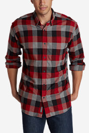 Men's Eddie's Favorite Flannel Classic Fit Shirt - Plaid Tall in Red