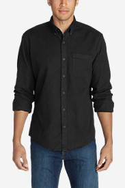 Men's Eddie's Favorite Flannel Classic Fit Shirt - Solid in Black