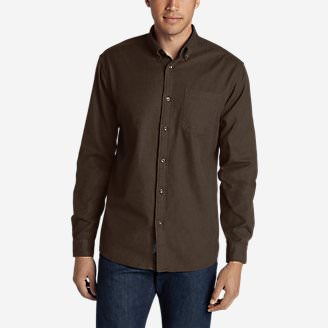 Men's Eddie's Favorite Flannel Classic Fit Shirt - Solid in Brown