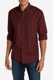 Men's Eddie's Favorite Flannel Classic Fit Shirt - Solid in Red