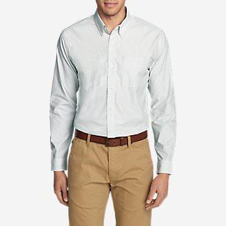 Men's Wrinkle-Resistant Long-Sleeve Sport Shirt in White