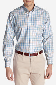 Men's Wrinkle-Resistant Long-Sleeve Sport Shirt in Blue