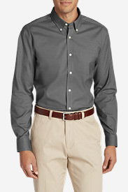 Men's Wrinkle-Resistant Long-Sleeve Sport Shirt in Gray