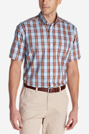 Men's Wrinkle-Free Classic Pinpoint Oxford Short-Sleeve Shirt - Seasonal in Red