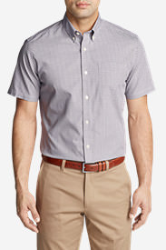 Men's Wrinkle-Free Classic Pinpoint Oxford Short-Sleeve Shirt - Seasonal in Purple