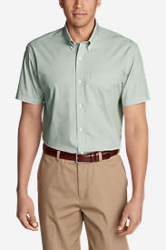 Men's Wrinkle-Free Classic Pinpoint Oxford Short-Sleeve Shirt - Seasonal in Green
