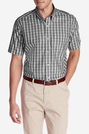 Men's Wrinkle-Free Classic Pinpoint Oxford Short-Sleeve Shirt - Seasonal in Gray