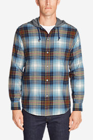 Men's Wild River Lightweight Flannel Hoodie in Blue