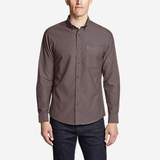 Men's Lookout Performance Oxford Shirt in Red