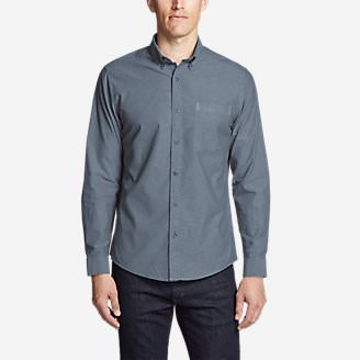 Men's Ultimate Travel Oxford Shirt in Blue