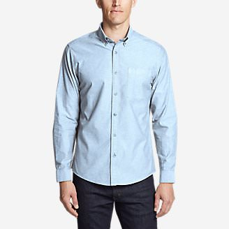 Men's Lookout Performance Oxford Shirt in Blue