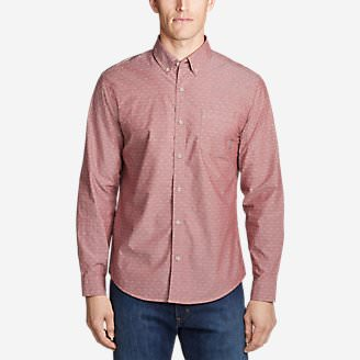 Men's Baja Long-Sleeve Shirt in Red