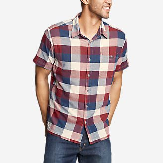 Men's Breezeway Short-Sleeve Shirt in Red