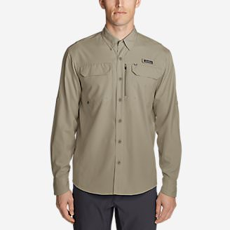 Men's Water Guide Long-Sleeve Shirt in Beige