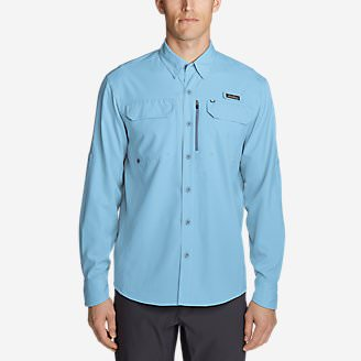 Men's Water Guide Long-Sleeve Shirt in Blue