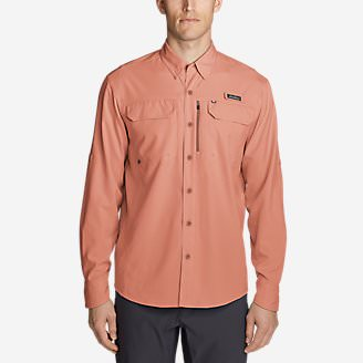 Men's Water Guide Long-Sleeve Shirt in Orange
