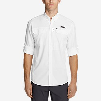 Men's Water Guide Long-Sleeve Shirt in White