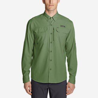 Men's Water Guide Long-Sleeve Shirt in Green