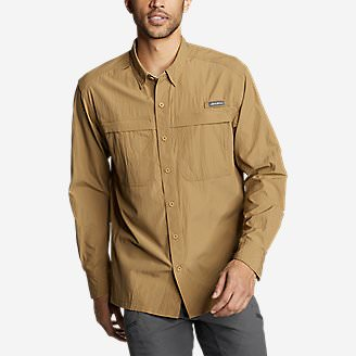 Men's Guide Long-Sleeve Shirt in Brown