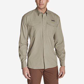 Men's Ahi Long-Sleeve Shirt in Beige