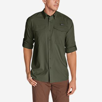 Men's Ahi Long-Sleeve Shirt in Green