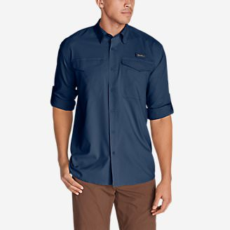 Men's Ahi Long-Sleeve Shirt in Blue