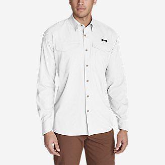 Men's Ahi Long-Sleeve Shirt in White